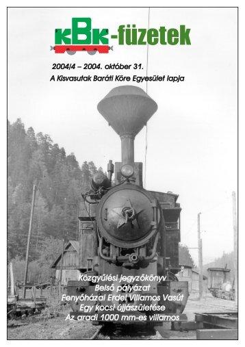 KBK füzetek 2004/4 - Kisvasut.hu