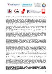 60 Millionen Euro Landesmittel für die Kitaarbeit pro Jahr sind zu ...
