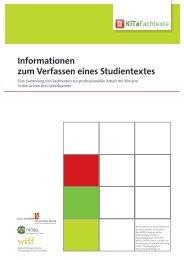 Informationen für neue AutorInnen - KiTa Fachtexte