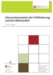 Interventionsweisen der Frühförderung und ihre ... - KiTa Fachtexte