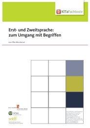 Erst- und Zweitsprache: zum Umgang mit Begriffen - KiTa Fachtexte