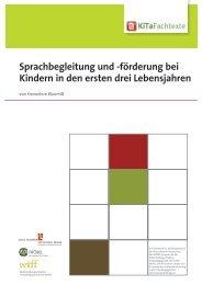 Sprachbegleitung und -förderung bei Kindern in ... - KiTa Fachtexte