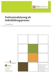 Professionalisierung als Selbstbildungsprozess - KiTa Fachtexte