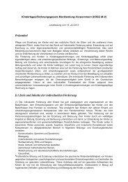 Kindertagesförderungsgesetz Mecklenburg ... - Kita-Portal-MV