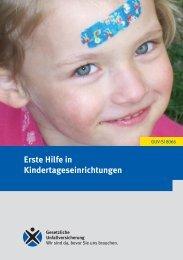 Erste Hilfe in Kindertageseinrichtungen - Regelwerk des ...