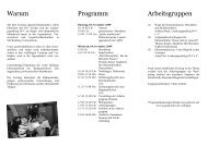Warum Programm Arbeitsgruppen - Kita-Portal MV