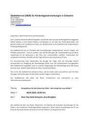 Stadtelternrat (StER) für Kindertageseinrichtungen ... - Kita-Portal MV