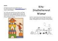 Kita-Stadtelternrat Wismar - Kita-Portal MV