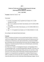 226-4 Gesetz zur Förderung von Kindern in ... - Kita-Portal MV