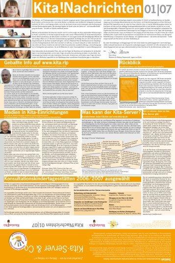 Nachrichten 01|07 - Kita-Server Rheinland-Pfalz