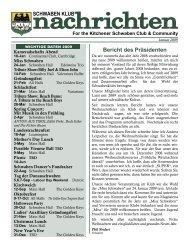 Bericht des Präsidenten - Kitchener Schwaben Club