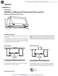ZV48TSFSS – GE Monogram 48