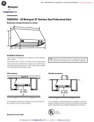 MO-ZV36SSF-SS Specifications - KitchenSource.com