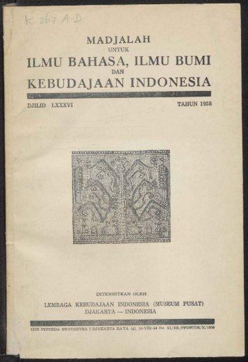 ILMU BAHASA, ILMU BUMI KEBUDAJAAN INDONESIA - kitlv