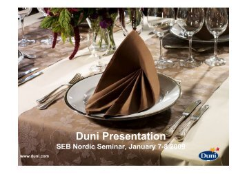 Duni Presentation - Duni Group