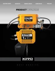 Kito Product Catalogue - Steelway Material Handling