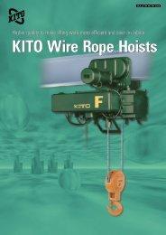 KITO Wire Rope Hoists KITO Wire Rope Hoists