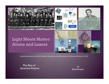 Presentation (pdf) - KITP - University of California, Santa Barbara