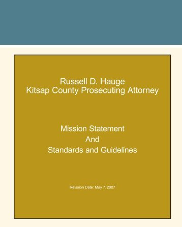 Mission Statement and Guidelines - Kitsap County Government