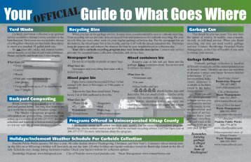Your Guide to What Goes Where - Kitsap County Government