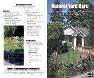 Natural Yard Care - Kitsap County Government