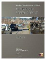 30% Draft Design Report - Kitsap County Government