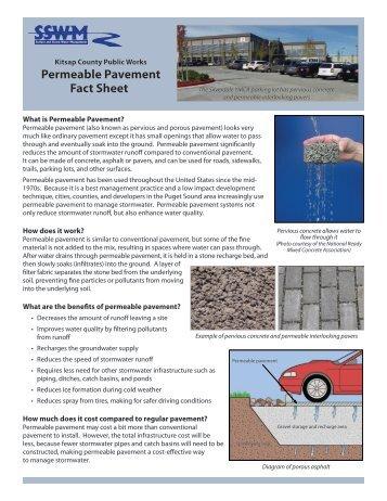Permeable Pavement Fact Sheet - Kitsap County Government