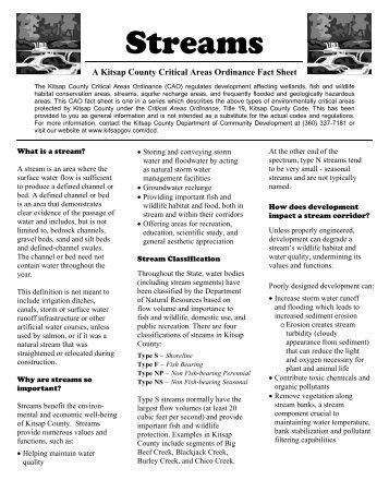 Streams - Kitsap County Government