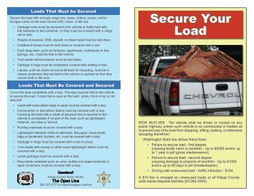 Secure Your Load - Kitsap County Government