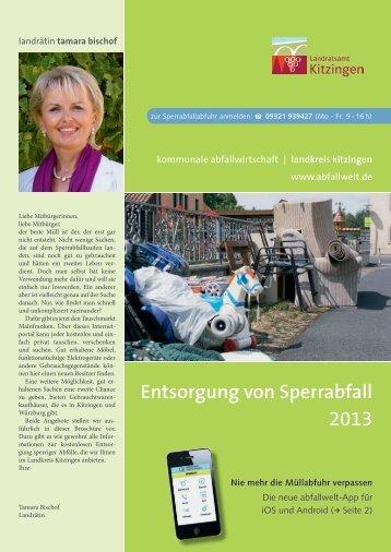 Entsorgung von Sperrabfall 2013 - Landkreis Kitzingen