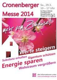 Cronenberger Messe 2014: Das Magazin