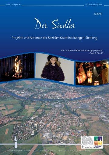 """""""Der Siedler"""" Ausgabe 01/2013 - Stadt Kitzingen"""