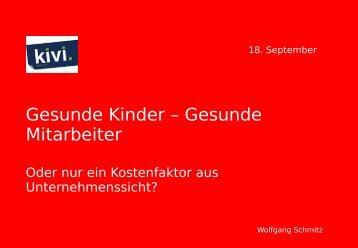 Präsentation Wolfgang Schmitz - kivi eV