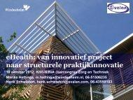 eHealth: van innovatief project naar structurele ... - kivi niria
