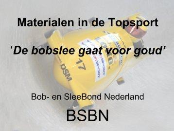 Materialen in de topsport bobslee - drs. ing. Bakker - kivi niria