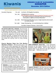 November 2010gossiper.qxd - KiwanisOne Member Resources