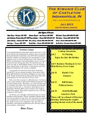 The Kiwanis Club of Castleton Indianapolis, IN - KiwanisOne.org