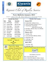 News Bulletin Jan. 2013 - KiwanisOne