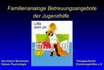 Lotta zieht um. Familienanaloge Betreuungsangebote der ...