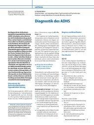 Diagnostik des ADHS - Klinik und Poliklinik für Kinder