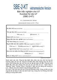 Bản trắc nghiệm cho U7 Kurztest für die U7 (SBE-2-KT)