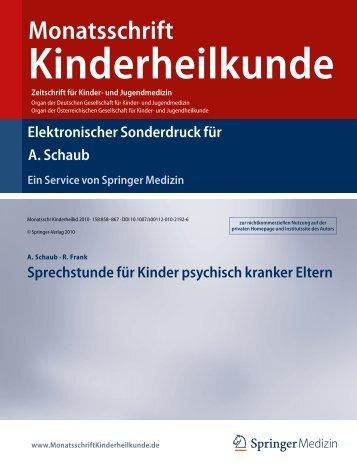 Monatsschrift - Klinik und Poliklinik für Kinder - LMU