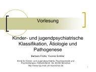Vorlesung Kinder- und jugendpsychiatrische Klassifikation, Ätiologie ...