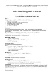Institut und Poliklinik für ______ LMU - Klinik und Poliklinik für ...