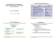 Normale Sprachentwicklung ICD-10-Kategorien Klassifikation