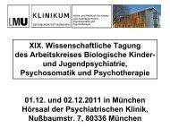 Zum Herunterladen: Programmübersicht - Klinik und Poliklinik für ...