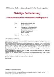 Einladung und Programm - Klinik und Poliklinik für Kinder - LMU