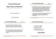 Emotionale Störung - Klinik und Poliklinik für Kinder