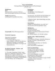 Krise und Suizidalität Vorlesung Kinder- und Jugendpsychiatrie und ...