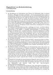Diagnostik der Lese-Rechtschreibstörung - Klinik und Poliklinik für ...